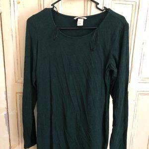 Emerald green long sleeve dress